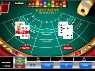Spin Palace Baccarat Card Game
