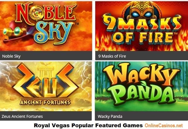 Royal Vegas Popular Featured Online Casino Games