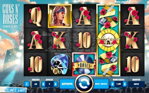 Guns N Roses Slot Machine View