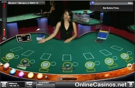Microgaming Live Blackjack Table View