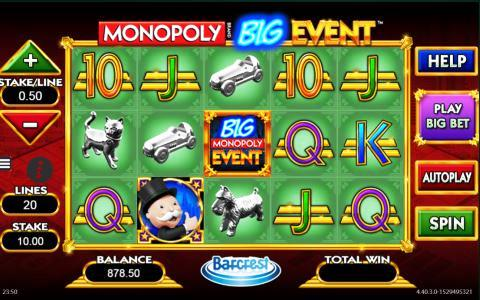 Monopoly Big Event Slot Machine