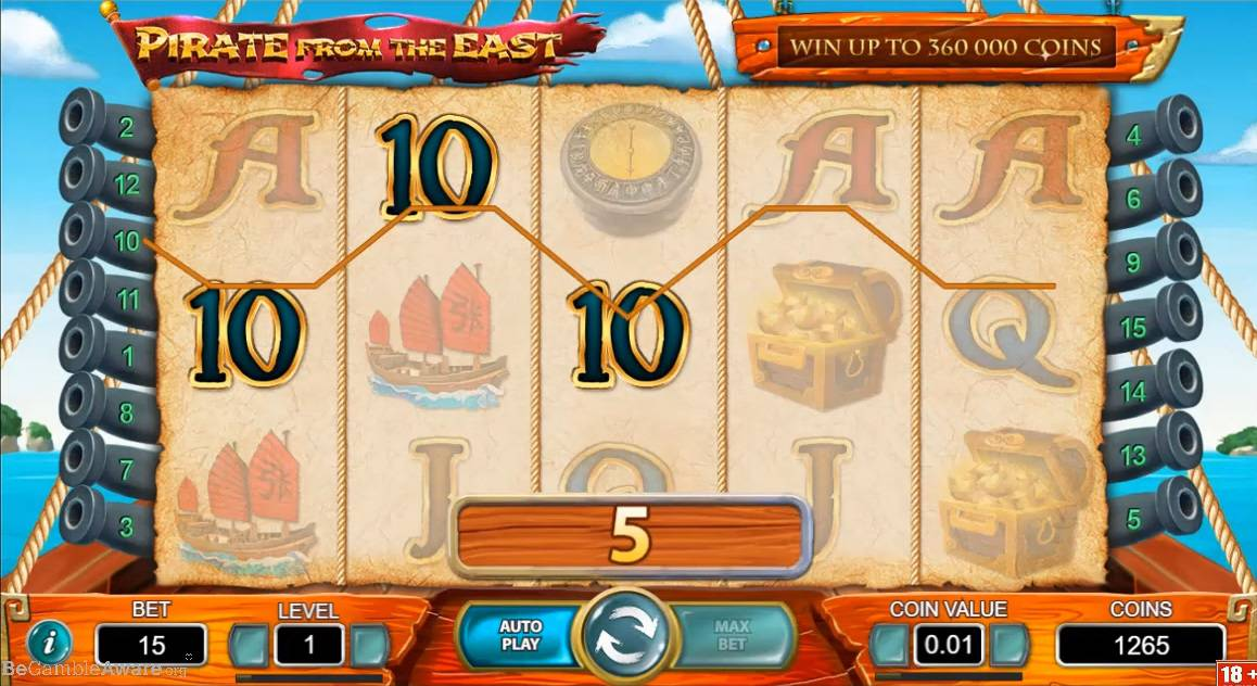 Pirate From The East Slot Machine