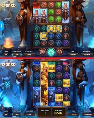 Age of Asgard Slot Machine View of GamePlay