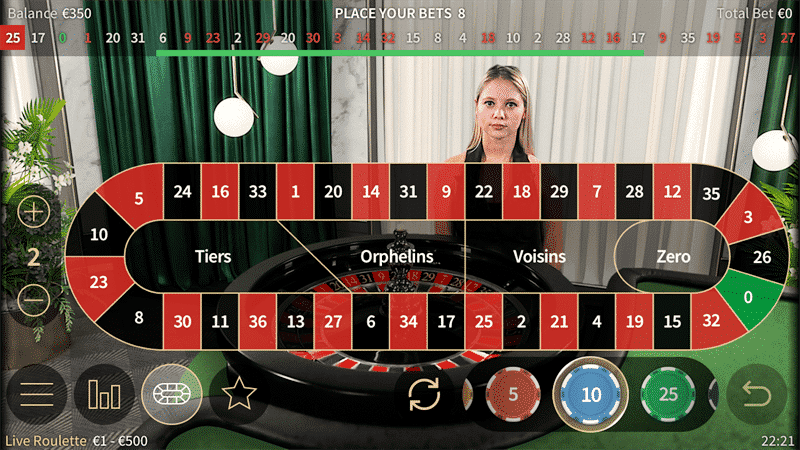 Playing iPhone Live Roulette