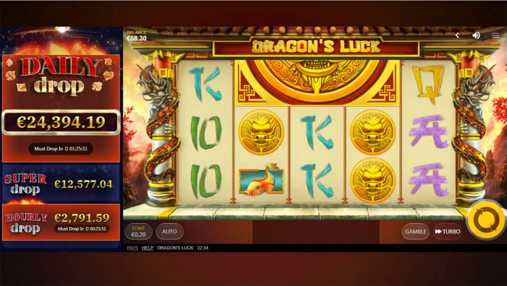 Dragon's Luck Power Reels Daily Jackpot slot View