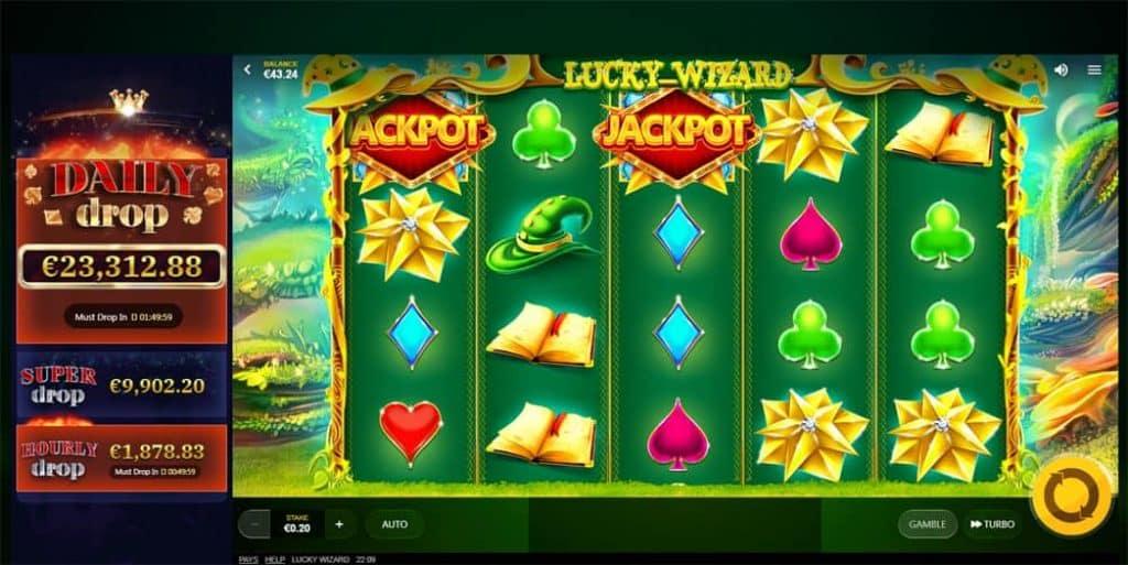 Lucky Wizard Slot Machine View