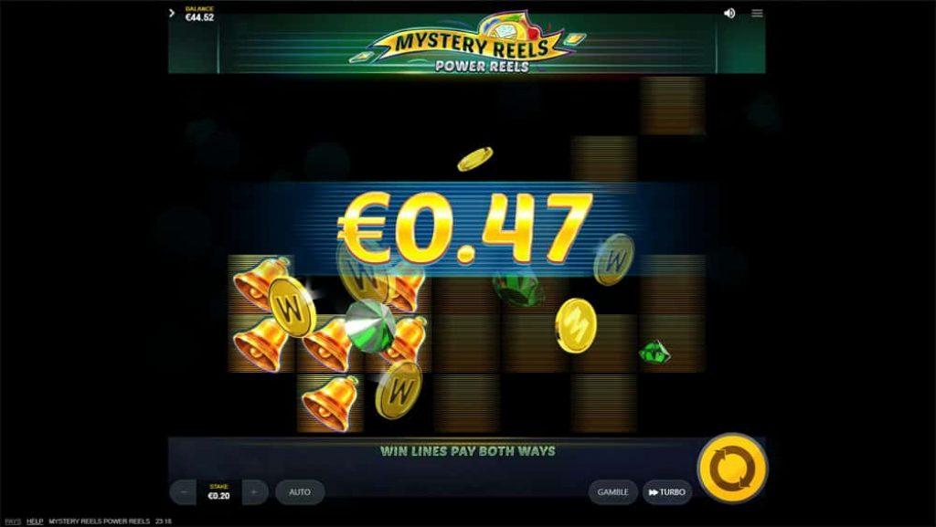 Mystery Reels Slot Machine Win View