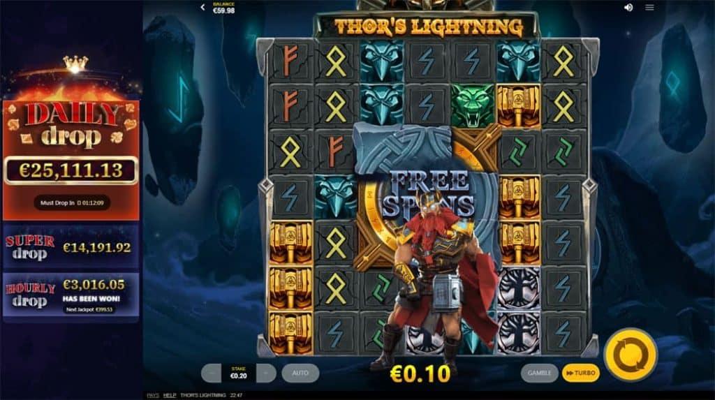 Thor's Lightning Slot Daily Jackpot View