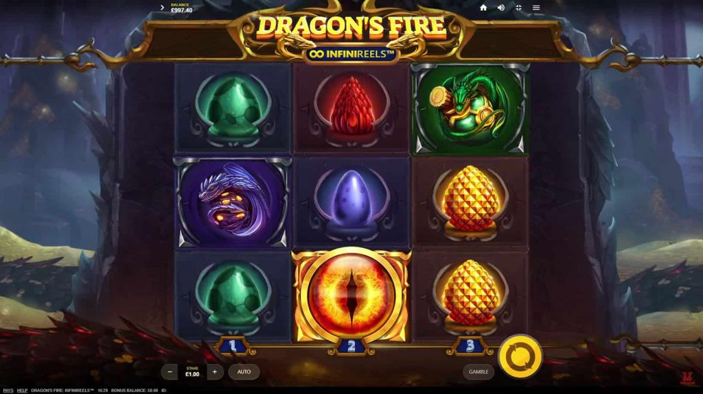 Dragon's Fire InfiniReels™ Online Slot