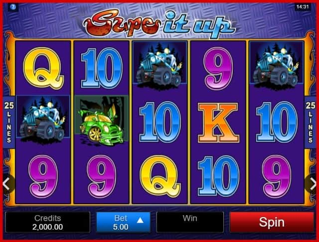 Supe It Up Online Slot Game View