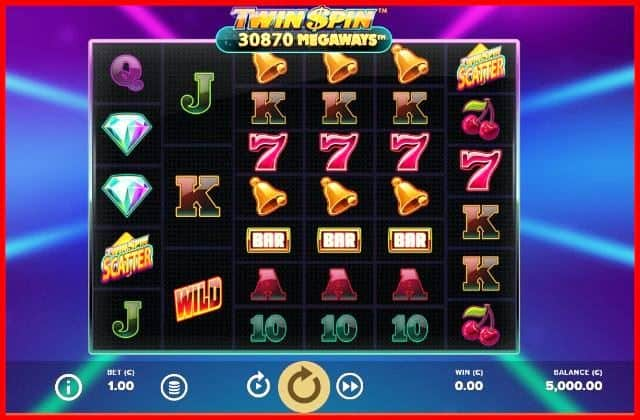 Twin Spin Megaways Slot Game View
