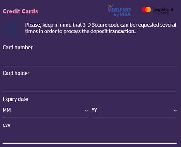 Example How to Add Visa Card
