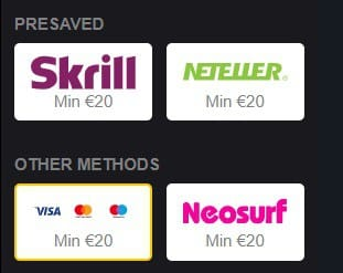 Choose Visa to Withdraw Example