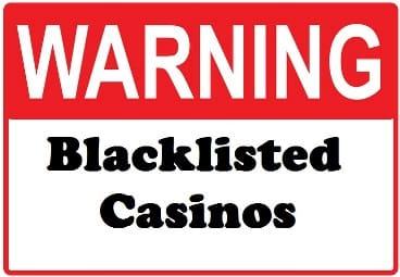 Casino Blacklist Sign