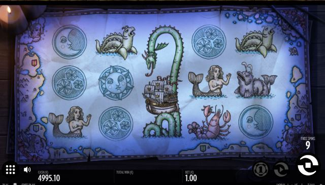 1429 Uncharted Seas Slot ;Game View
