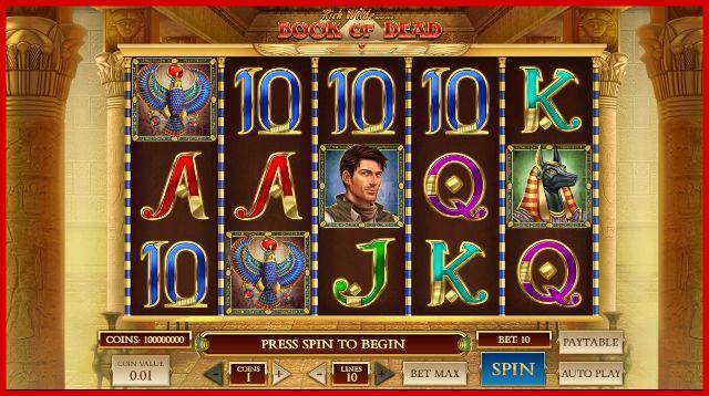 Book of Dead Slot Machine View