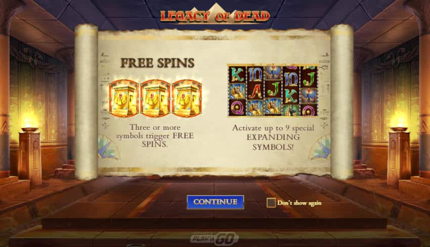 Showing Free Spins on Online Slot