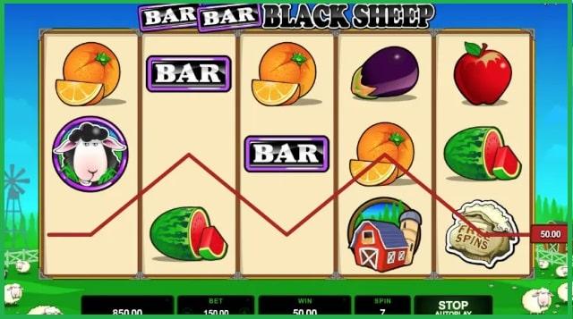 Bar Bar Black Sheep Slot Game View