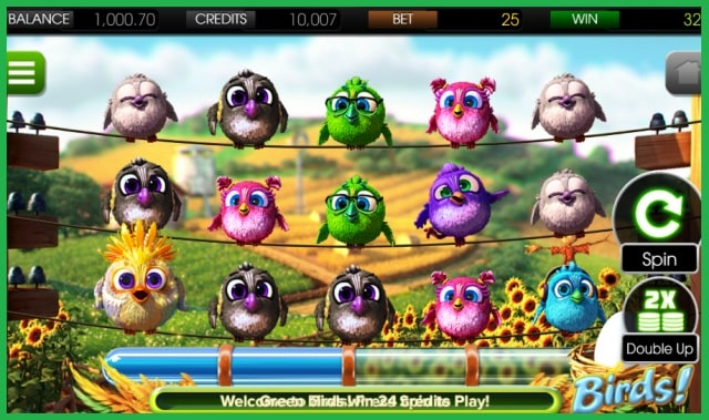 Birds Mobile Slot Game View