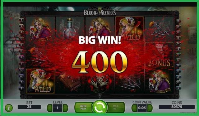 Blood Suckers Slot Machine Game View