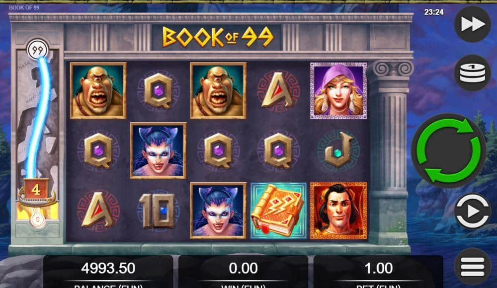 Book of 99 Online Slot Game Play View