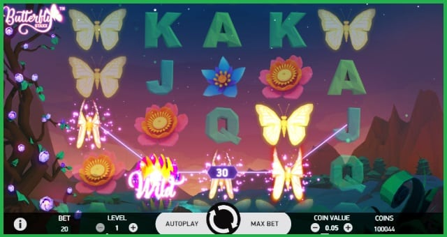 Butterfly Staxx Online Slot Game View