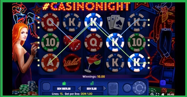 Casino Night Game View