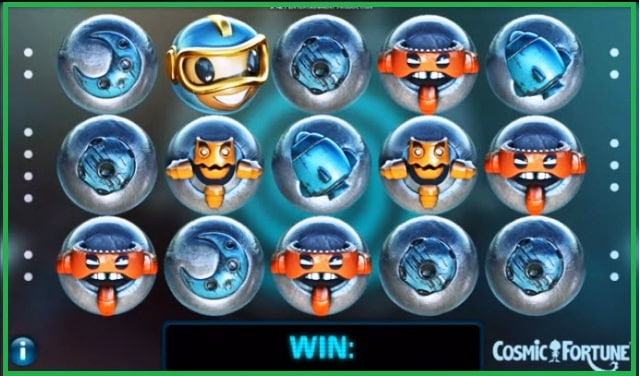 Cosmic Fortune Slot Machine Online Game View