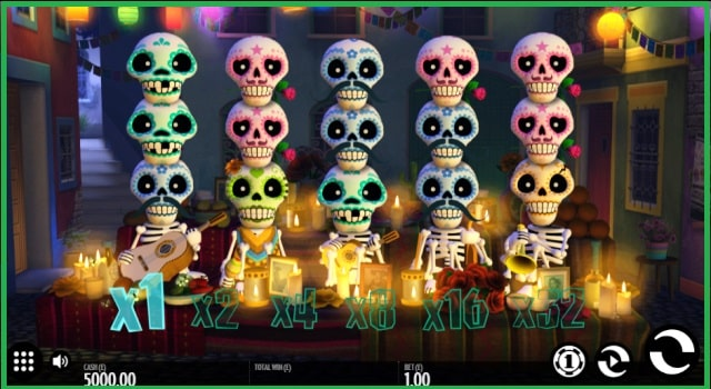 Esqueleto Explosivo Online Slots Game View