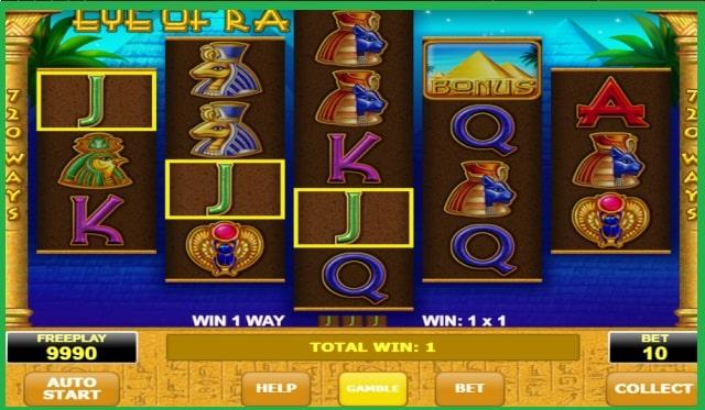 Eye of Ra Slot Machine Game View