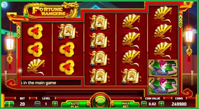 Fortune Rangers Slot Machine Game Play View