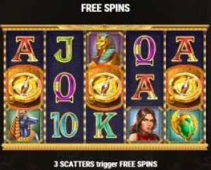 Free Spins Screenshot on Cat Wilde and the Doom of Dead