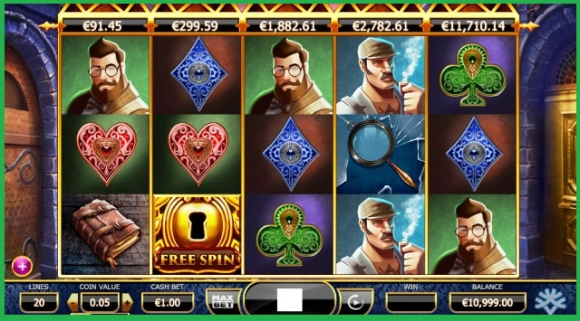 Holmes And The Stolen Stones Slots Game View