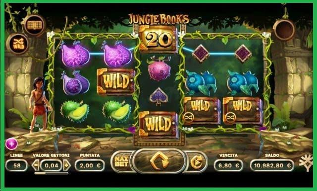 Jungle books Slot Machine Game View