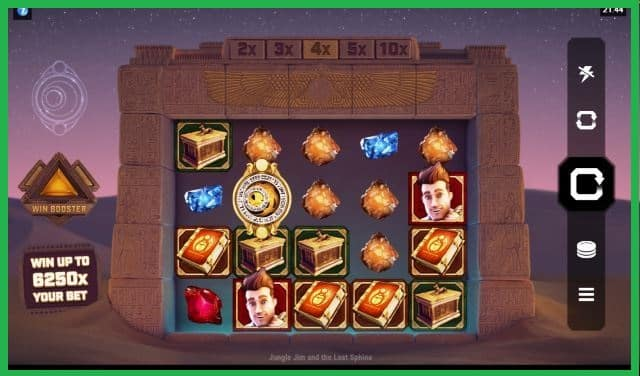 Jungle Jim and the Lost Sphinx Slot Game View