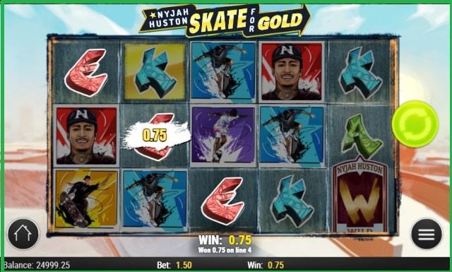 Nyjah Huston Skate for Gold Online Slot Game View