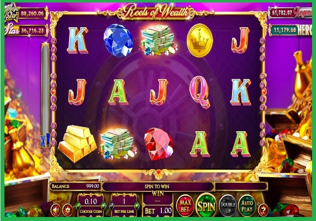 Reels of Wealth Online Slot Game View
