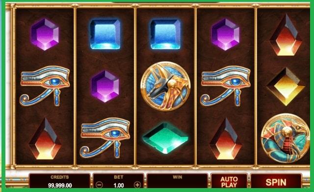Wild Scarabs Slot Machine Game View