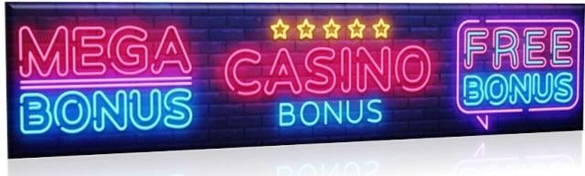 Casino Bonuses Sign