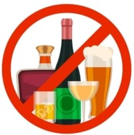 No Drinking When Gambling Sign