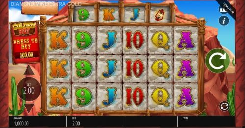 Diamond Mine Extra Gold Megaways Slot Free Play